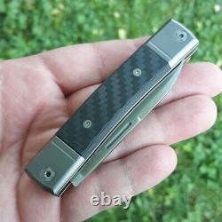 Couteau Pliant Lionsteel Bestman Bm2 2.88 M390 Poignée De Fibre De Carbone De La Lame D'acier