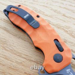 Couteau Pliant Sog Kiku Xr Lte 3.3 Cts-xhp Lame D'acier G10/poignée De Finisseur De Carbone