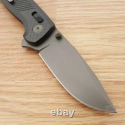Couteau Pliant Sog Terminus Xr S35vn Lame Inoxydable Poignée En Fibre De Carbone Noir