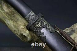 Gaine D'ébène D'épée En Acier Pliée De Haute Qualité Sabre Sharp Hrc60
