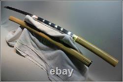 Japanese Ninja Shrine Secte Tang Samurai Sword Katana Folded Steel Blade #4212