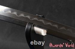 Japonais Clay Tempered Samurai Katana Sword Folded 1095 Carbon Steel Blade