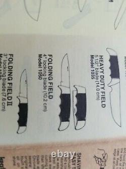 Kershaw Modèle 1050 Avec Gaine, Boîte Et Papiers. Kai En Acier Inoxydable. Excellent Jamais Utilisé