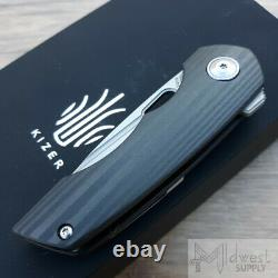 Kizer Cutlery Microlith Folding Knife 2.5 S35vn Steel Blade Fibre De Carbone Poignée