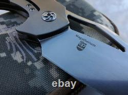 Kizer Megatherium Folding Knife 4 Cpm S35vn Blade Titanium/fibre De Carbone Poignée