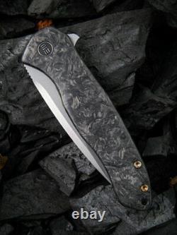 Knife Kitefin Couteau Pliant 3,25 Cpm S35vn Lame D'acier Fibre De Carbone/titanium