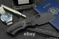 Lames Berg Slim Couteau Pliant Black DLC Titanium & Carbon Fibre M390 Lame