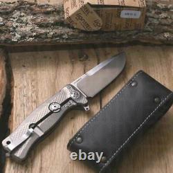 Lionsteel Sr 11 G Couteau Pliant Titanium Couteau Pliant Chasse Au Camp Collector