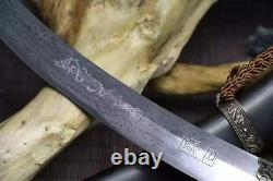 Main Mongole Sharp Folded 60hrc Carbon Steel Sword Cavalry Sabre Full Tang