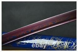 Moderne Futuriste Bleu Dragon Polded Steel Battle Prêt Samurai Katana Sword