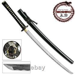 Moshiro Folded Steel Samurai Sword 1000+ Couches Battle Ready Ronin Katana