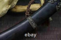 Nice Full Tang Mongolia Dao Machete Sharp Plied Steel Sword Cavalry Signe Sabre
