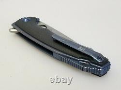 Nous Couteau 810a Couteau Pliant Yucha, 4 Cpm S35vn Lame En Acier Bleu Fibre Ti/carbon