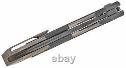 Nous Couteau Arrakis Couteau Pliant 3.5 M390 Lame D'acier Titanium/poignée De Fibre De Carbone