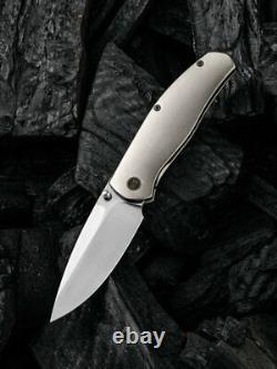 Nous Couteau Esprit Couteau Pliant 3.25 Cpm 20cv Lame En Acier 6al4v Poignée En Titane