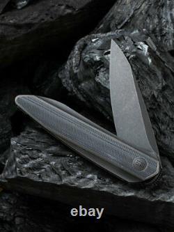 Nous Couteau Void Opus Couteau Pliant 2.88 Lame D'acier 20cv Titanium / Fibre De Carbone