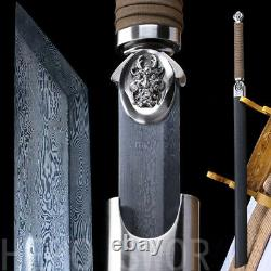 Nouvelle Damas Polded Steel Samouraï Japonais Épée Katana Ninja Full Tang Sharp