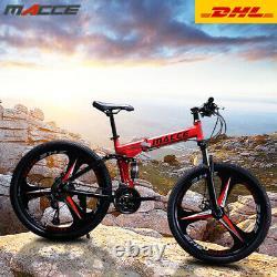 Pliage 26 Pouces D'acier Carbone 21 Vitesse Double Disque Vélo De Montagne À Vitesse Variable
