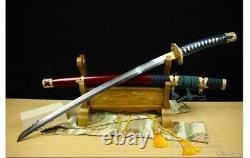 Polded Steel Clay Tempered Tachi Battle Ready Samurai Curved Katana Sword War