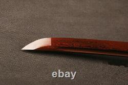 Real Sharp Épée Japonaise Samurai Katana Folded Steel Bloody Red Blade Full Tang