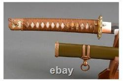 Réplique Ww2 Wwii Officier Japonais Gunto Army Katana Sword Polded Clay Tempered