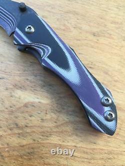 Serrure De Revêtement De Couteaux Warren Thomas Avec Le Couteau Pliant De Fibre De Carbone/lame De Titane G10