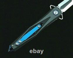 Spear Point Pliant Knife Pocket Hunting Survie Tactique D2 Blade G10 Poignée S