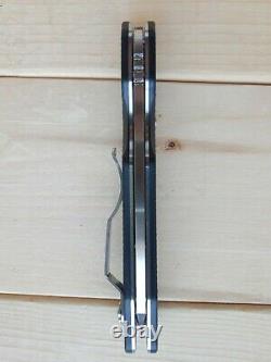 Spyderco C240cfp Poignée De Fibre De Carbone Smock Avec Couteau Pliant À Lame D'acier 30v