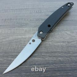 Spyderco Ikuchi Couteau Pliant 3.25 Cpm S30v Steel Blade Carbon Fiber/g10 Handle