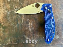 Spyderco Manix 2 Couteau Pliant Bleu Translucide, Excellent État