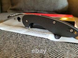 Spyderco Sliveax Couteau Pliant 3.5in S30v Lame, Fibre De Carbone G10