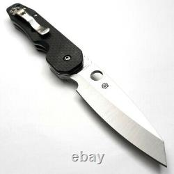 Spyderco Smock Couteau Pliant 3.5 Cpm S30v Steel Blade Carbon Fiber/g10 Handle