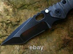 Tanto Pliant Knife Pocket Hunting Survivance Tactique D2 Acier Titanium Poignée 4