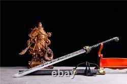 Tiger Head Japonais Samurai Katana Sword Plié 1095 Carbon Steel Lame Outdoor