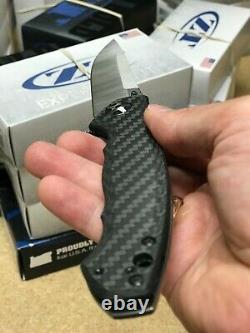 Tolérance Zéro Zt 0452cf Couteau Pliant Grand Sinkevich Fibre De Carbone/titanium USA