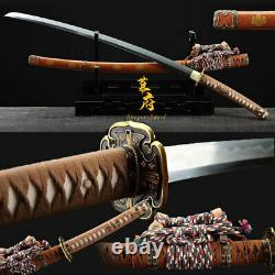 Top Clay Tempered Polded Steel Japonais Katana Sword Tachi Sharp Blade Full Tang