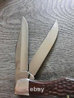 Vintage Case XX USA 10 Dot 1970 6265 Sab Dr Pliant Hunter Couteau CV Avecsheath