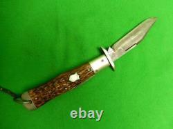 Vintage Cattaraugus King Of The Woods Coke Bouteille Pliante Couteau Pliant Retour Couteau 12839