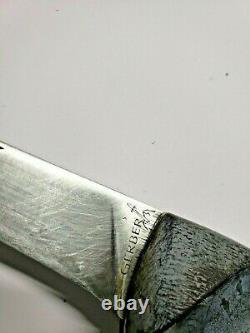 Vintage Gerber Pliant Chasseur Couteau Portland Oregon 97223 Très Bon État