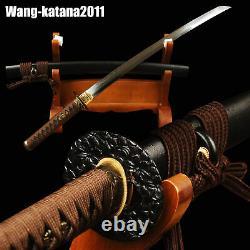 Wakizashi Clay Tempered Polded T10 Steel Handmade Japanese Sharp Practice Sword