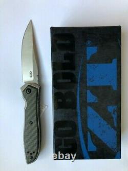 Zt Tolérance Zéro Emerson 0640 Couteau Pliant 20cv Blade Carbon Fiber Frame Lock
